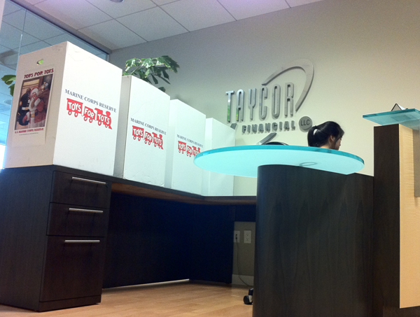 Taycor Financial Partners with Toys for Tots